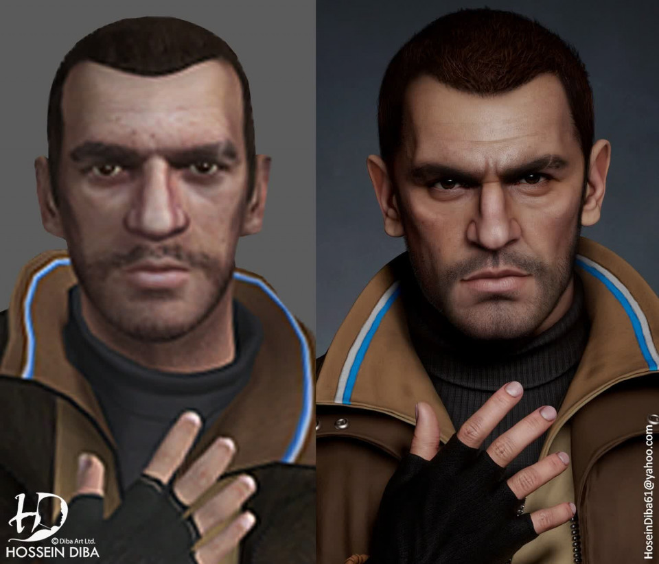 Hossein Diba, GTA'nın ikonik karakterlerini yeniden 3D renderlayarak hayat vermiş.