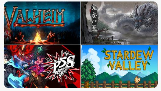 Steam'de haftanın çok satan oyunları:1. Valheim2. Valve Index VR3. Tale of Immortal4. Persona 5: Strikers5. Persona 5: Strikers (Digital Deluxe)6. Stardew Valley7. Outriders (Pre-Order)8. Nioh 29. Baldur's gate 310. CS GO (Broken Fang)