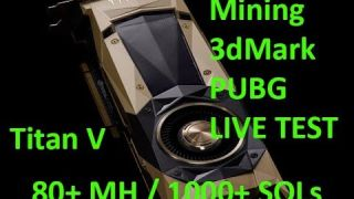 Live VLOG #75 - nVidia Titan V - But can it mine cryptocurrency? Unboxing, Install, Testing Live!