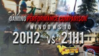 Gaming Comparison 20H2 vs 21H1 - 4K Ultra Presets / AMD SAM